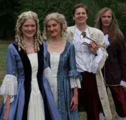 v. r.: Orgel-Andreas, Trompeten-Hannes, Sylvia und meine Sopranista-alter ego Cornelia.